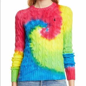 LAST CHANCE Polo Ralph Lauren Tie Dye Sweater NWT